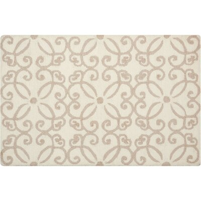 Northampton Hand-Woven Cream Area Rug Rug Size: Rectangle 26 x 310