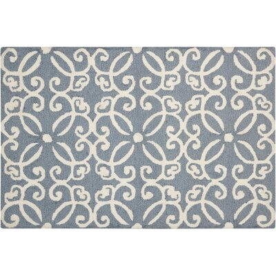 Northampton Hand-Woven Blue/Ivory Area Rug Rug Size: Rectangle 26 x 310