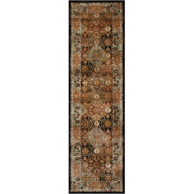 Ravens Brown Area Rug Rug Size: Runner 22 x 76