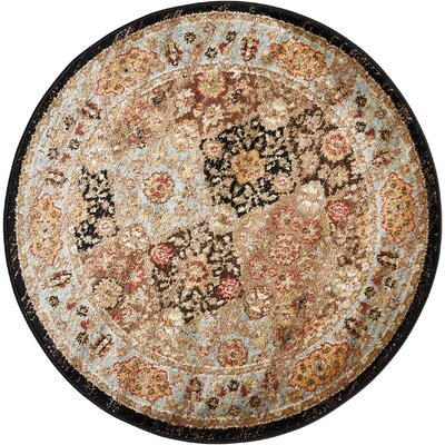 Ravens Brown Area Rug Rug Size: Round 53