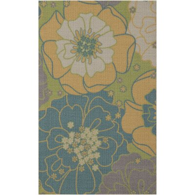 Wright Teal Blue/Yellow Indoor/Outdoor Area Rug Rug Size: Rectangle 10 x 13