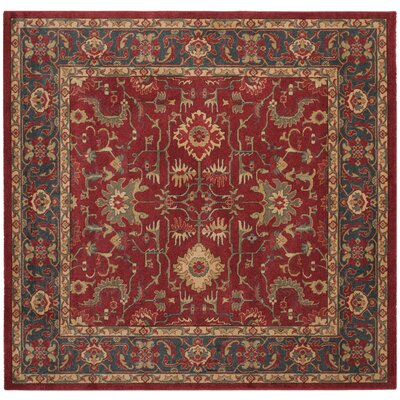 Coleraine Red Area Rug Rug Size: Square 67