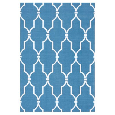 Wright Navy Indoor/Outdoor Area Rug Rug Size: Rectangle 43 x 63