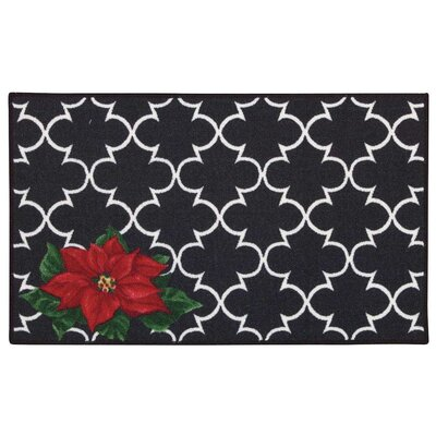 Deveau Black/Red Area Rug