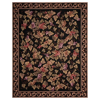 Arpdale Grapes Black Area Rug Rug Size: Rectangle 75 x 95