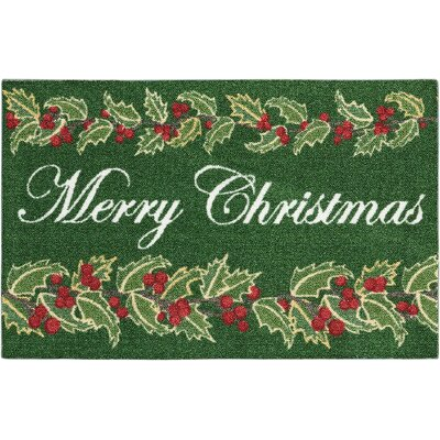 Coleman Once Upon a Christmas Green Area Rug