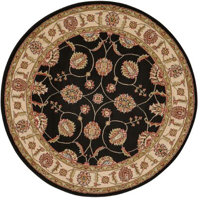 Belle Haven Black/Gray Area Rug Rug Size: Round 710