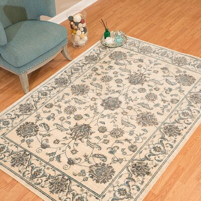 Jansson Oriental Bone Cotton Area Rug Rug Size: Rectangle 126 x 15