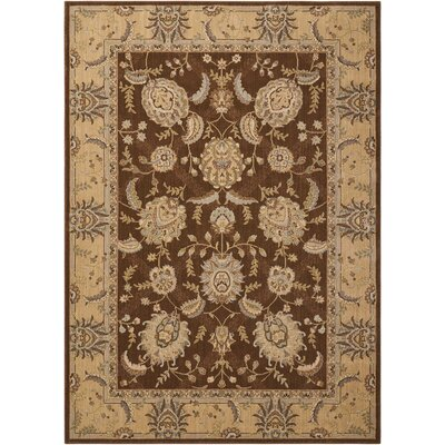 Dowdell Chocolate Area Rug Rug Size: Rectangle 53 x 75