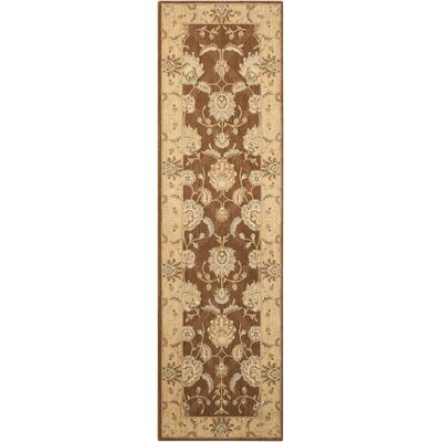 Dowdell Chocolate Area Rug Rug Size: Runner 23 x 8