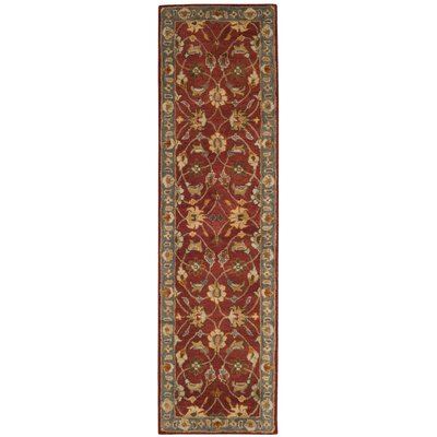 Cranmore Hand-Tufted Red/Blue Area Rug Rug Size: Runner 23 x 8