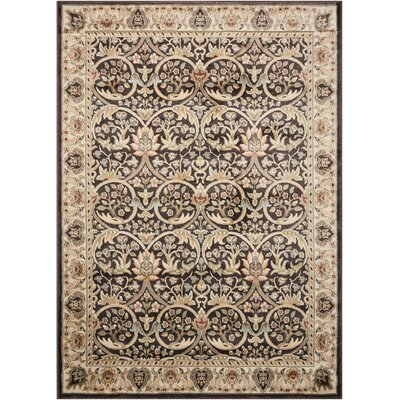 Tyrrell Brown/Beige Area Rug Rug Size: Rectangle 53 x 74