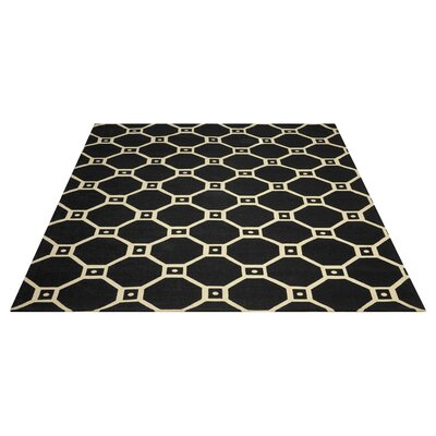 Argo Black Area Rug Rug Size: Rectangle 5 x 7