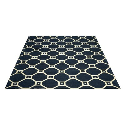 Argo Navy Area Rug Rug Size: Rectangle 5 x 7