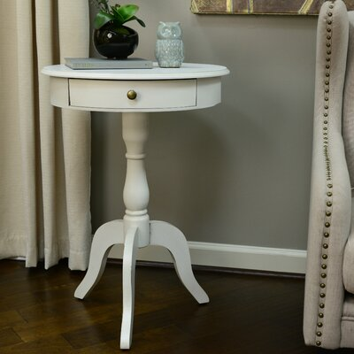 Wedgewood End Table Color: Antique White