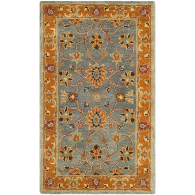 Cranmore Hand-Tufted Gray/Orange Area Rug Rug Size: Rectangle 4 x 6