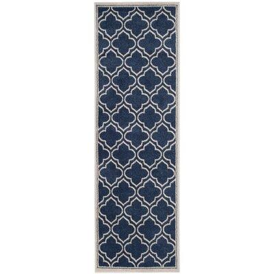 Carman Blue/Beige Indoor/Outdoor Area Rug Rug Size: Runner 23 x 7