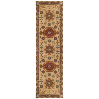 Cranmore Hand-Tufted Beige/Brown Area Rug Rug Size: Runner 23 x 12