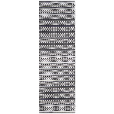 Parthena Hand-Woven Gray Area Rug Rug Size: Runner 23 x 10
