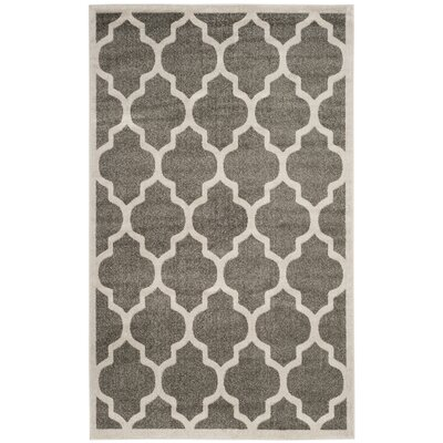 Carman Gray/Beige Indoor/Outdoor Area Rug Rug Size: Rectangle 4 x 6
