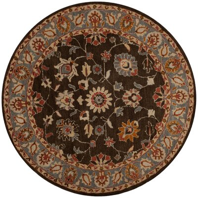 Cranmore Hand-Tufted Charcoal/Blue Area Rug Rug Size: Round 8 x 8