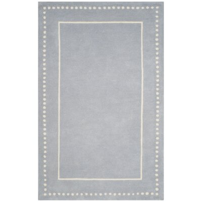 Amundson Hand-Tufted Light Blue/Ivory Area Rug Rug Size: Rectangle 5 x 8