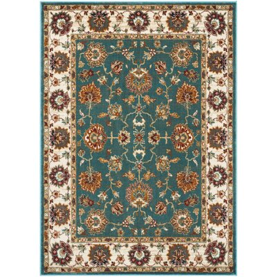 Lowe Oriental Teal Area Rug Rug Size: Rectangle 51 x 76