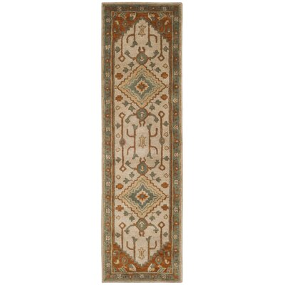 Cranmore Hand-Tufted Gray/Beige Area Rug Rug Size: Runner 23 x 10