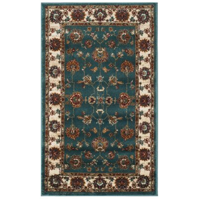 Lowe Oriental Teal Area Rug Rug Size: Rectangle 3 x 5