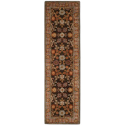 Cranmore Hand-Tufted Brown/Beige Area Rug Rug Size: Runner 23 x 10