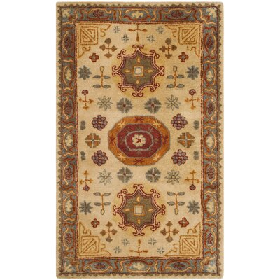 Cranmore Hand-Tufted Beige/Brown Area Rug Rug Size: Rectangle 4 x 6