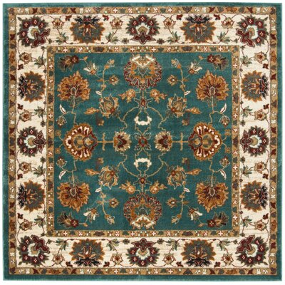 Lowe Oriental Teal Area Rug Rug Size: Square 6'7