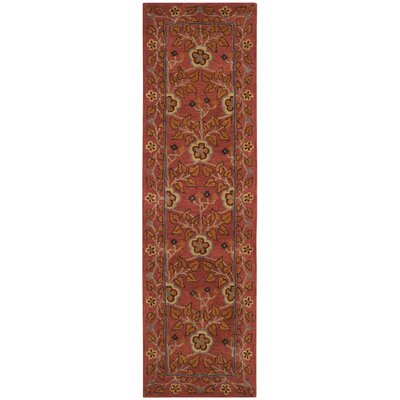 Cranmore Hand-Tufted Red/Orange Area Rug Rug Size: Runner 23 x 10