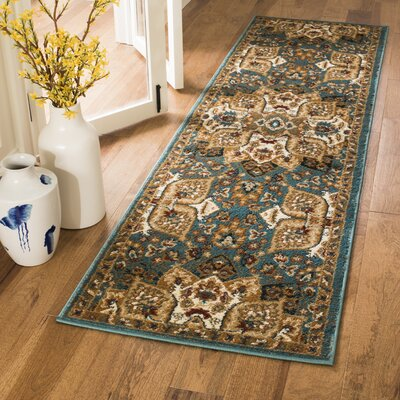 Lowe Teal Area Rug Rug Size: Runner 23 x 8