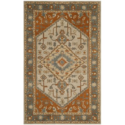 Cranmore Hand-Tufted Gray/Beige Area Rug Rug Size: Rectangle 4 x 6