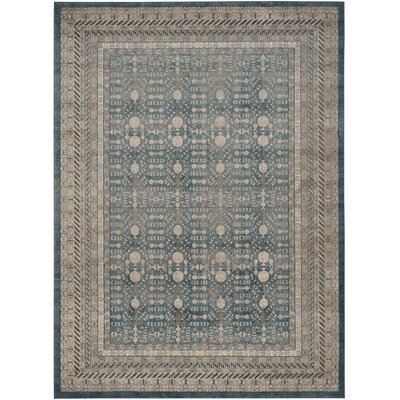 Bristol Woods Blue/Beige Area Rug Rug Size: Rectangle 10 x 14