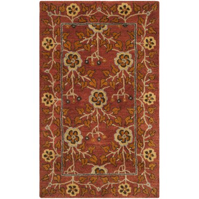 Cranmore Hand-Tufted Red/Orange Area Rug Rug Size: Rectangle 4 x 6
