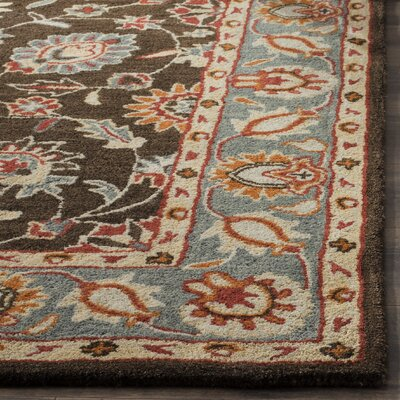 Cranmore Hand-Tufted Charcoal/Blue Area Rug Rug Size: Rectangle 9 x 12