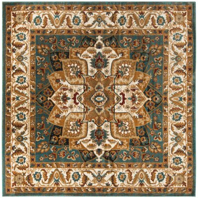 Lowe Teal Area Rug Rug Size: Square 67