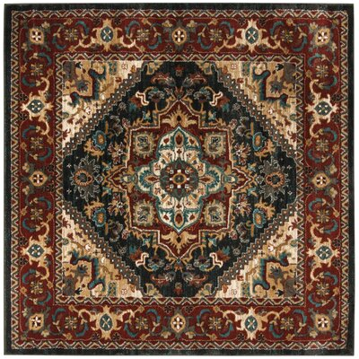 Rasmussen Gray/Red Area Rug Rug Size: Square 67