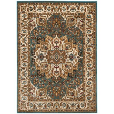 Lowe Teal Area Rug Rug Size: Rectangle 3 x 5