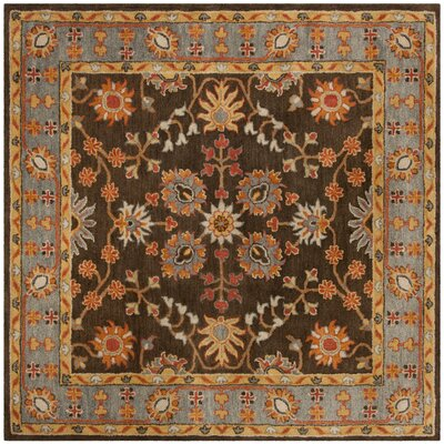 Cranmore Hand-Tufted Brown/Beige Area Rug Rug Size: Square 8 x 8