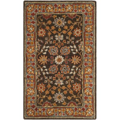 Cranmore Hand-Tufted Brown/Beige Area Rug Rug Size: Rectangle 4 x 6
