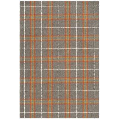 Briarton Hand-Woven Orange/Gray Area Rug Rug Size: Rectangle 3 x 5