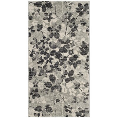 Pike Grey / Black Indoor/Outdoor Area Rug Rug Size: Runner 22 x 7