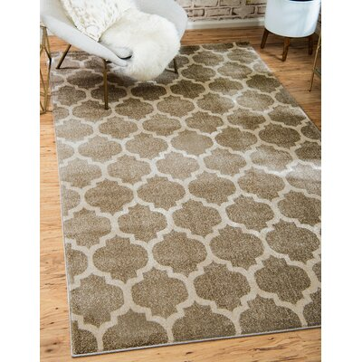Moore Tan Area Rug Rug Size: Rectangle 6 x 9