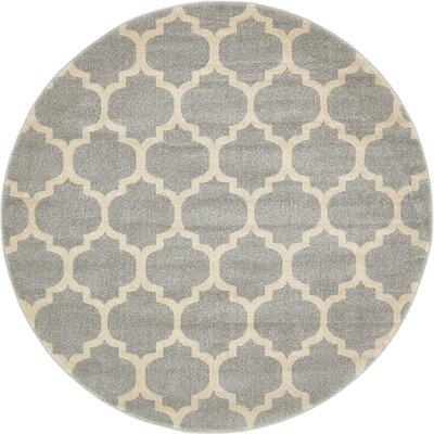 Moore Gray Area Rug Rug Size: Round 10