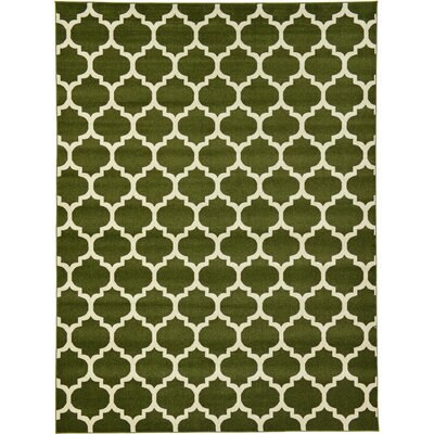 Moore Green/Beige Area Rug Rug Size: Rectangle 9 x 12