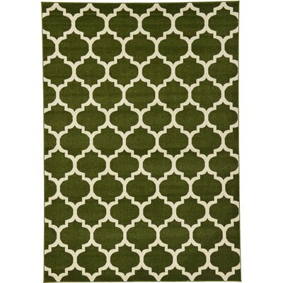 Moore Green/Beige Area Rug Rug Size: Rectangle 7 x 10