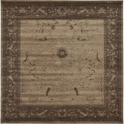 Attleborough Brown Area Rug Rug Size: Square 10